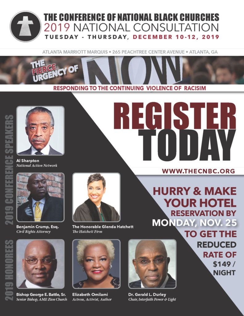 The Conference of National Black Churches 2019 National Consultation - December 10-12, 2019, Atlanta