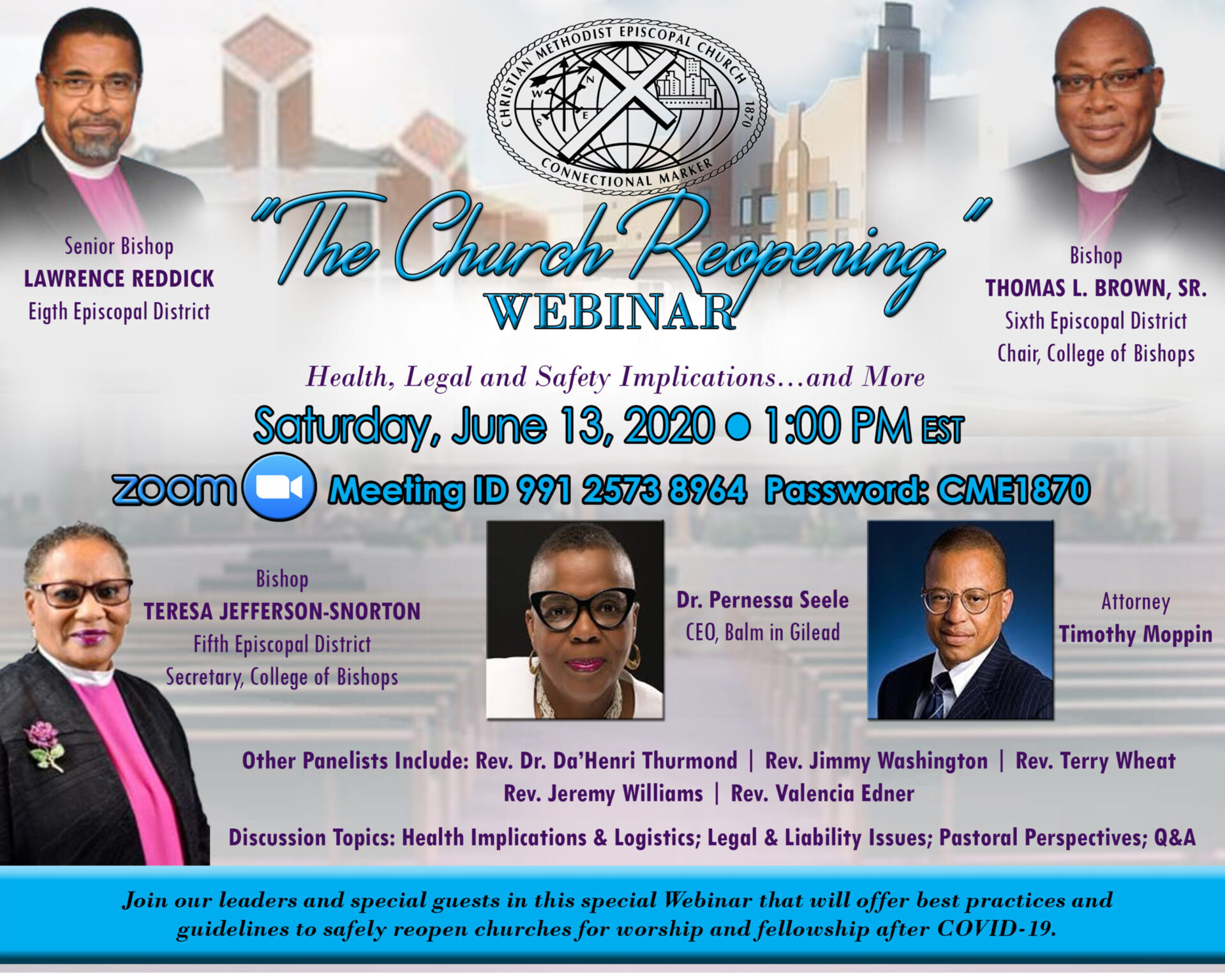 Flyer - The Church Reopening Webinar C